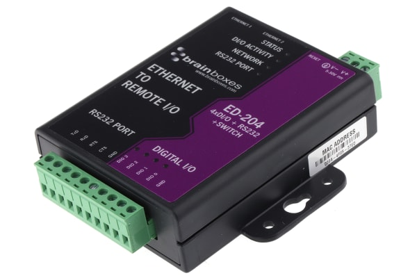 Product image for CONVERTER ETHERNET TO 4DIO/RS232/SWITCH