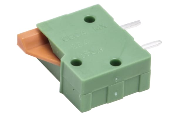 Product image for 1 way spring terminal 2.54mm top entry