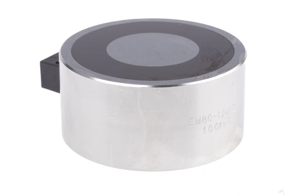 Product image for 80mm Dia. 12V Electro Holding Magnet