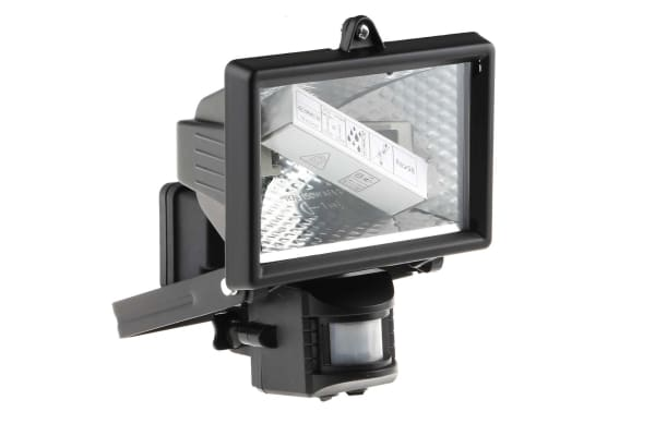 Product image for IP44 PIR halogen outdoor floodlight,120W