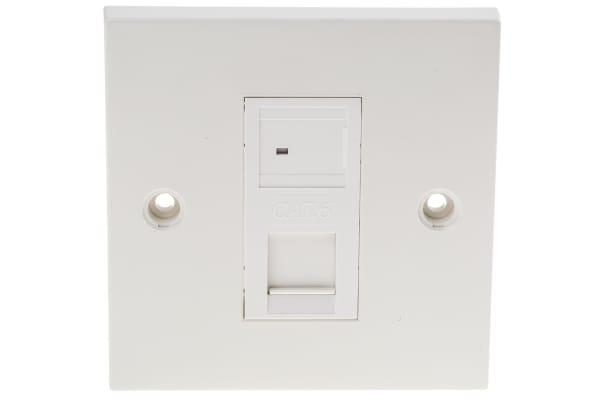 Product image for Cat6 UTP Faceplate 1 Port