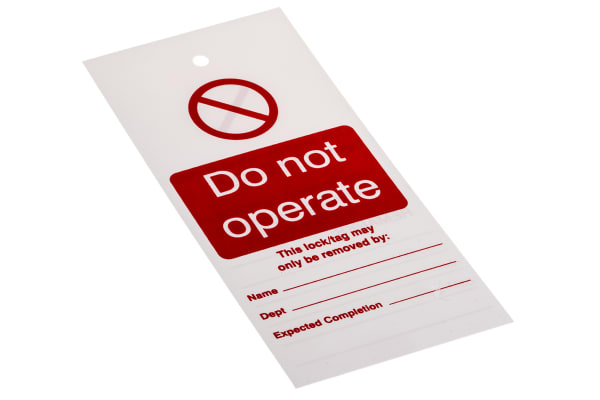 "Product image for Lockout Tag ""Do not operate"""