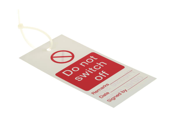 "Product image for Lockout Tag ""Do not switch off"""