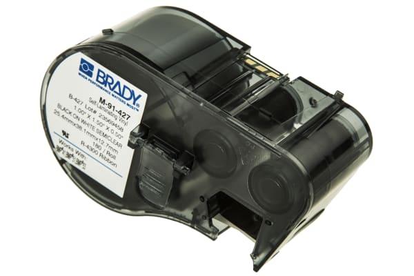 Product image for BLACK/WHITE SELF-LAMINATING VINYL LABELS