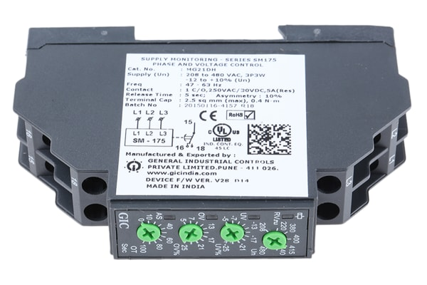 Product image for 3 PHASE VOLTAGE MONITORING RELAY, SELECT
