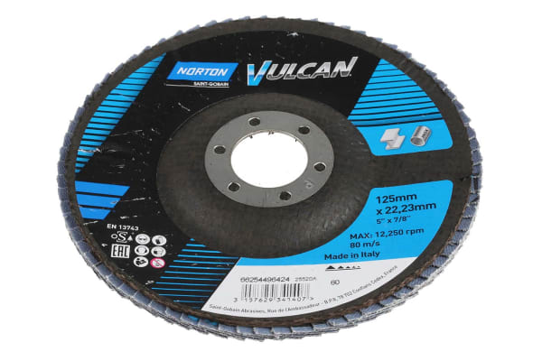 Product image for 125MM ZIRCONIA FLAP DISC GRIT 60