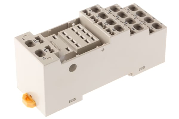 Product image for DIN Rail / Surface 14 Pin Relay Socket