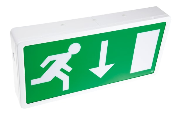 Product image for LED emergency exit box maintained 3hr