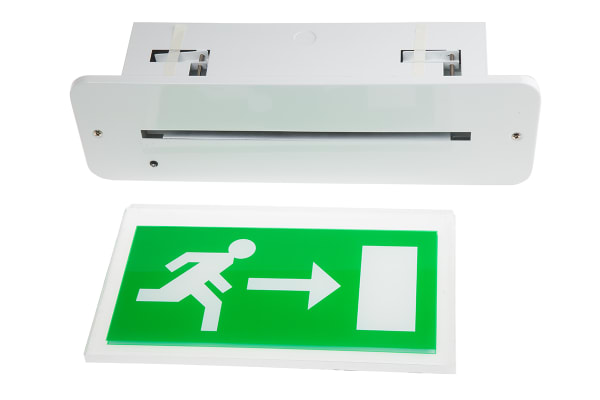 Product image for LED emergency recessed exit sign L/R