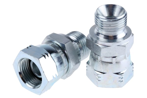 Product image for 3/8in BSPP M-F swivel nut male adaptor
