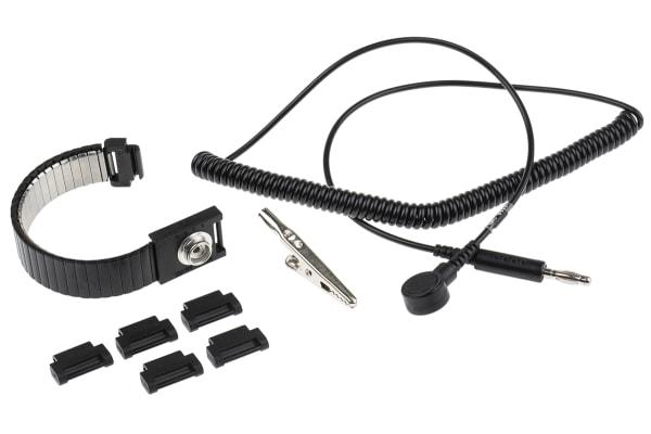 Product image for 10mm Stud-Banana Mini Wrist Strap+Cord