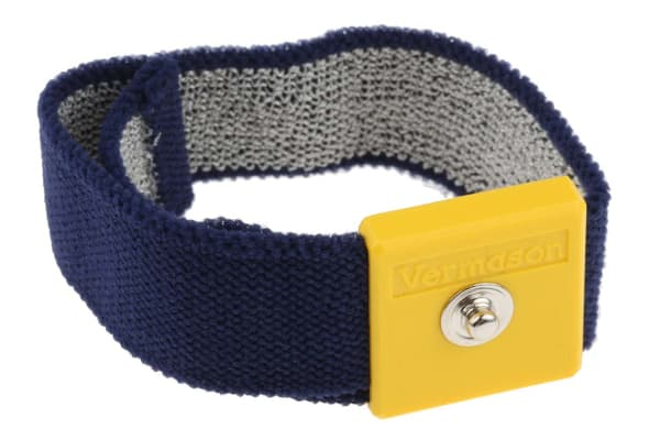Product image for 4mm Stud Adjustable Fabric Wrist Strap