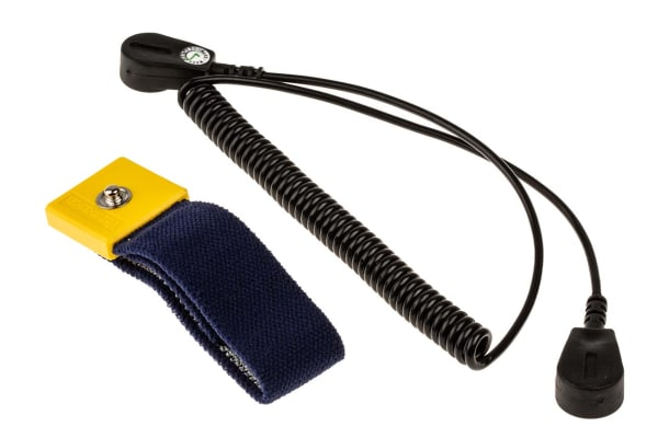 Product image for 4-10mm Stud Adjustable Wrist Strap+Cord
