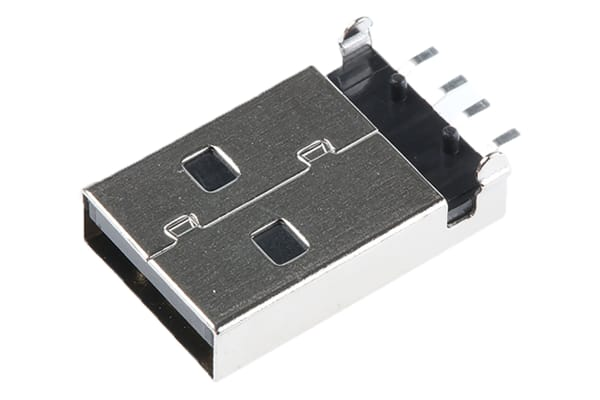 Product image for USB Type A Plug SMT Right Angle Shielded
