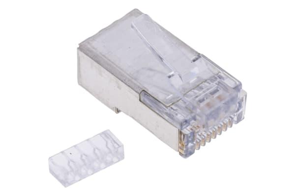 Product image for Cat6 RJ45 shielded modular plug, 8/8