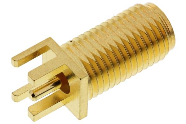 Product image for SMA Jack PCB Edge Mount 50 no hardware