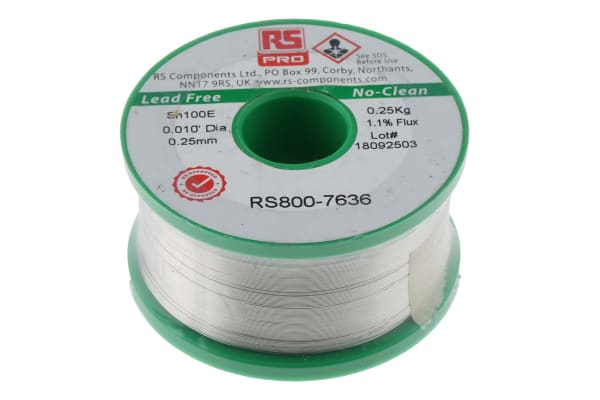 Product image for Lower cost Lead free solder, 0.25mm 250g