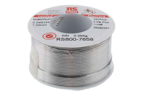 Product image for 60/40 tin-lead solder, 1.0mm, 250g