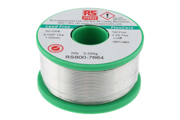 Product image for Lower cost Lead free solder, 1.0mm, 250g