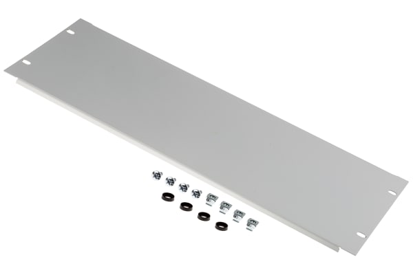 """Product image for Steel 4U Blanking panel 19"""", RAL7035"""