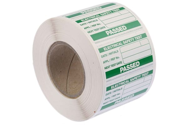 Product image for Seaward 91B038 PAT Testing Label, For Use With Portable Appliance Testers