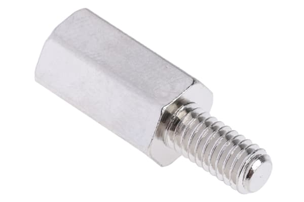 Product image for Brass Hex Threaded Spacer M4x12mm M/F