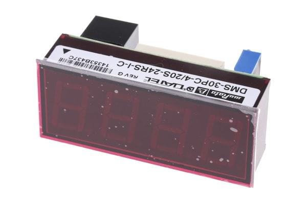 Product image for Digital Volt Meter 4-20mA Red LED 24V