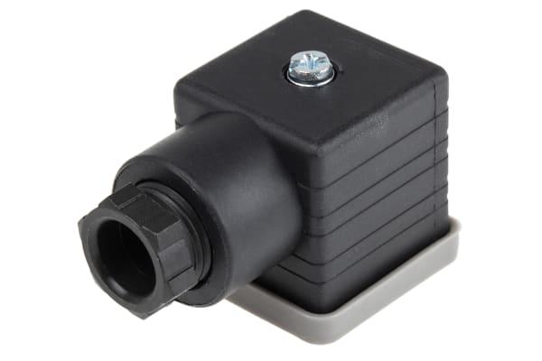 Product image for Socket PG9 2 Pole + Earthing, Black