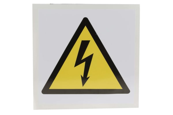 Product image for 100x100mm Vinyl Electricity Sign