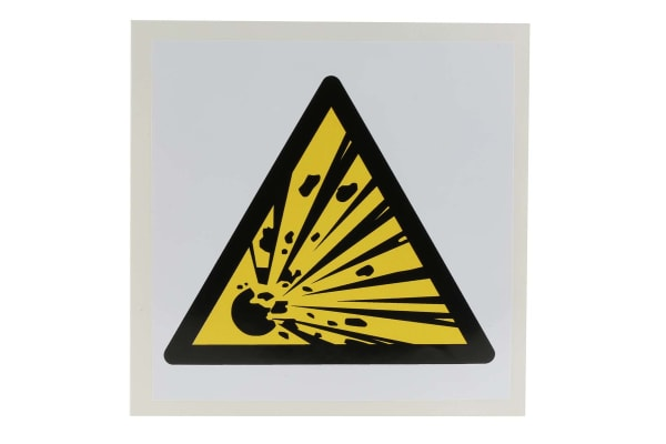 Product image for 100x100mm Vinyl Explosive Material Sign