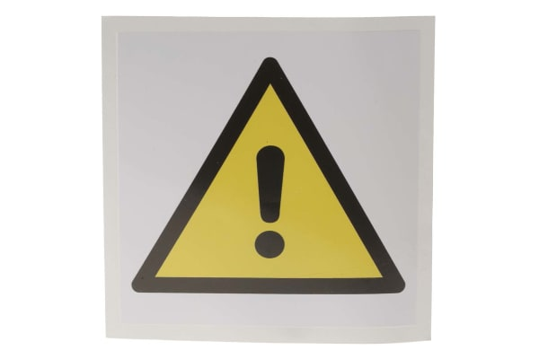 Product image for 100x100mm Vinyl General Warning Sign