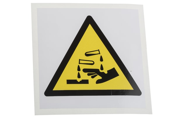 Product image for 100mm Vinyl Corrosive Substance Sign