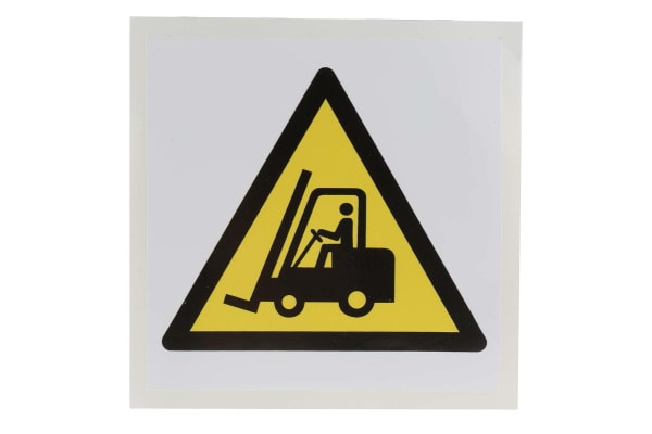 Product image for 100x100mm Vinyl Forklift Truck Sign