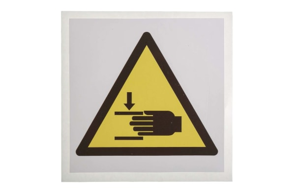 Product image for 100x100mm Vinyl Crushing of Hands Sign