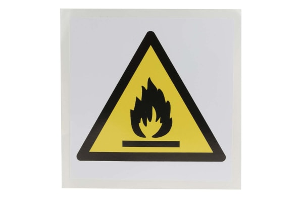 Product image for 100x100mm Vinyl Flammable Material Sign