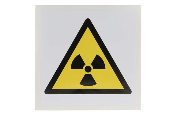 Product image for 100mm Vinyl Radioactive Material Sign