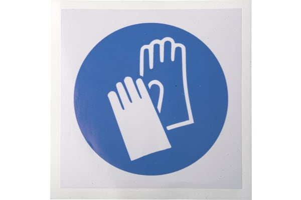 Product image for 100mm Vinyl Wear Protective Gloves Sign