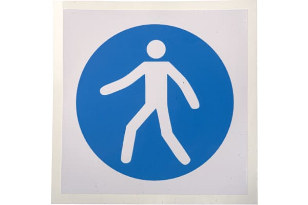 Product image for 100x100mm Vinyl Use this Walkway Sign