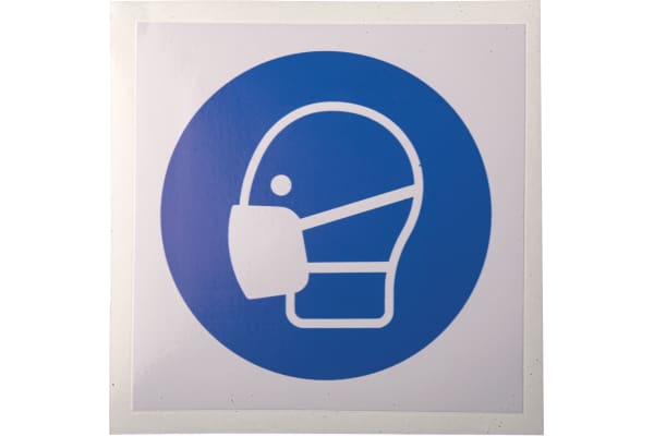 Product image for 100x100mm Vinyl Wear a Mask Sign