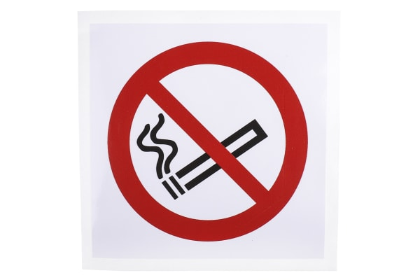 Product image for 100x100mm Vinyl No Smoking Sign