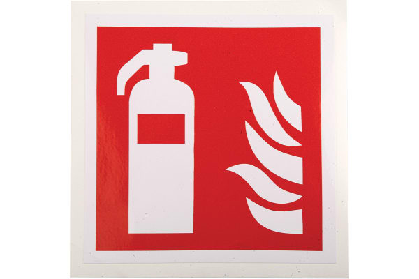 Product image for 100x100mm Vinyl Fire Extinguisher Sign