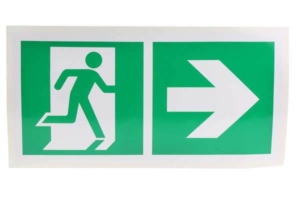 Product image for 150x300 Vinyl Emergency Exit Right Sign