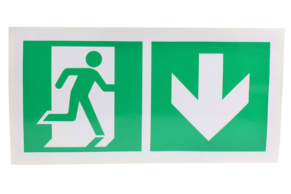 Product image for 150x300mm Vinyl Emergency Exit Down Sign