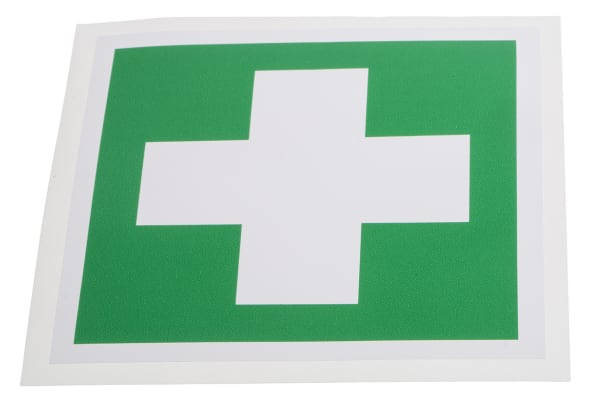 Product image for 100x100mm Vinyl First Aid Sign