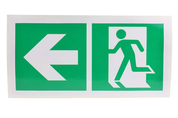 Product image for 150x300mm Vinyl Emergency Exit Left Sign