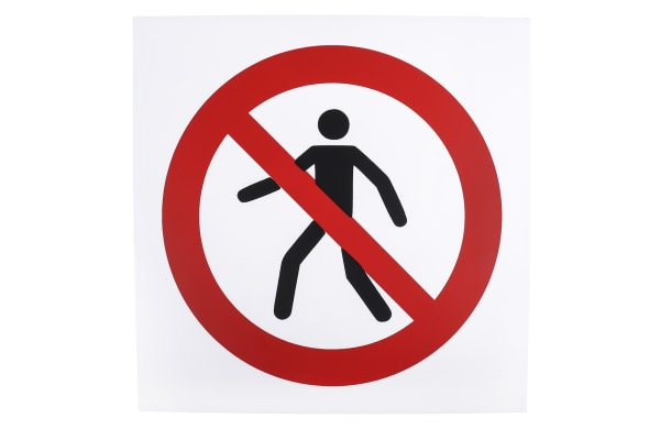 Product image for 200x200mm PP No Thoroughfare Sign