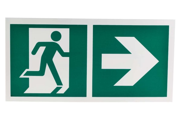 Product image for 150x300 PP Emergency Exit Right Sign