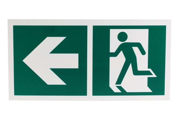 Product image for 150x300mm PP Emergency Exit Left Sign