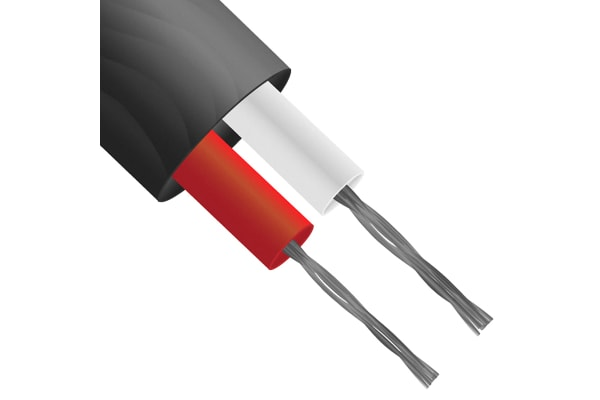 Product image for ANSI Type J Thermocouple Cable 25M
