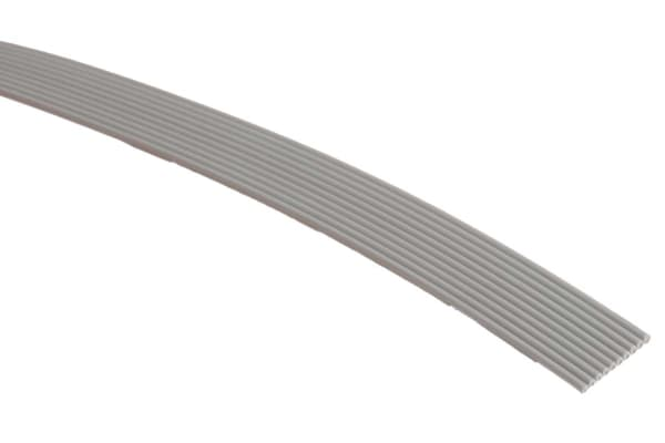 Product image for 3M 10 Way Unscreened Flat Ribbon Cable, 6.35 mm Width, Series 3756